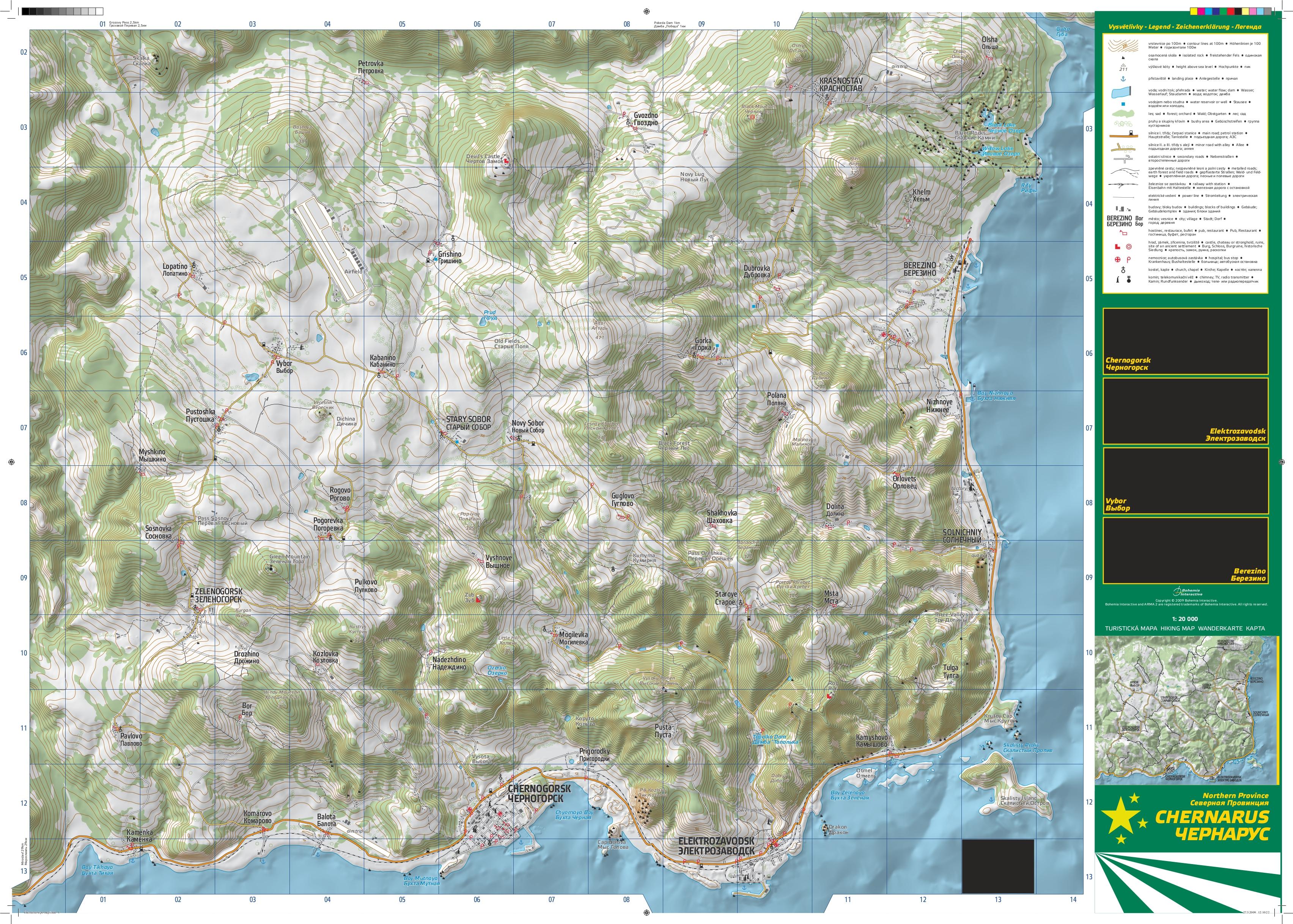High Resolution Map - dayz
